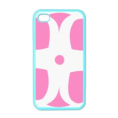 Love Heart Valentine Pink White Sweet Apple Iphone 4 Case (color) by Alisyart