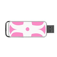 Love Heart Valentine Pink White Sweet Portable Usb Flash (one Side) by Alisyart