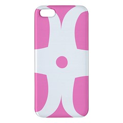 Love Heart Valentine Pink White Sweet Apple Iphone 5 Premium Hardshell Case by Alisyart