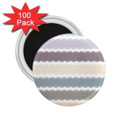 Muted Lace Ribbon Original Grey Purple Pink Wave 2 25  Magnets (100 Pack)  by Alisyart