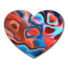 Abstract Fractal Heart Mousepads by Simbadda