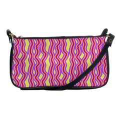 Pink Yelllow Line Light Purple Vertical Shoulder Clutch Bags by Alisyart
