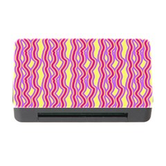Pink Yelllow Line Light Purple Vertical Memory Card Reader With Cf by Alisyart