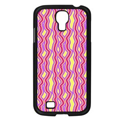 Pink Yelllow Line Light Purple Vertical Samsung Galaxy S4 I9500/ I9505 Case (black) by Alisyart