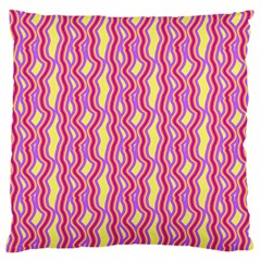 Pink Yelllow Line Light Purple Vertical Large Flano Cushion Case (two Sides) by Alisyart
