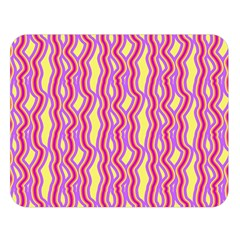 Pink Yelllow Line Light Purple Vertical Double Sided Flano Blanket (large)  by Alisyart