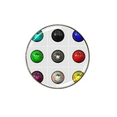 9 Power Buttons Hat Clip Ball Marker (10 Pack) by Simbadda