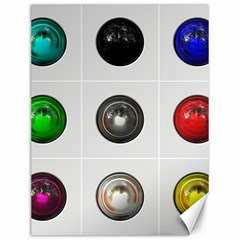 9 Power Buttons Canvas 12  X 16   by Simbadda
