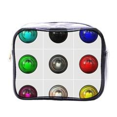 9 Power Buttons Mini Toiletries Bags by Simbadda