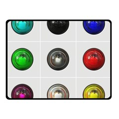 9 Power Buttons Double Sided Fleece Blanket (small)  by Simbadda