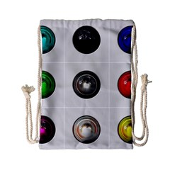 9 Power Buttons Drawstring Bag (small) by Simbadda