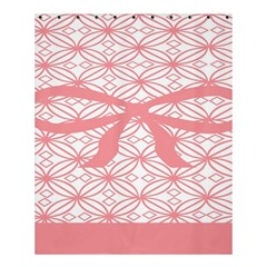 Pink Plaid Circle Shower Curtain 60  X 72  (medium)  by Alisyart