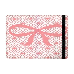 Pink Plaid Circle Apple Ipad Mini Flip Case by Alisyart
