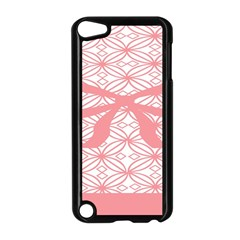 Pink Plaid Circle Apple Ipod Touch 5 Case (black) by Alisyart