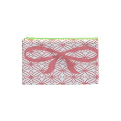 Pink Plaid Circle Cosmetic Bag (xs) by Alisyart