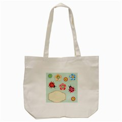 Buttons & Ladybugs Cute Tote Bag (cream) by Simbadda