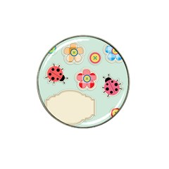 Buttons & Ladybugs Cute Hat Clip Ball Marker (4 Pack) by Simbadda