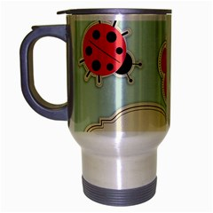 Buttons & Ladybugs Cute Travel Mug (silver Gray) by Simbadda