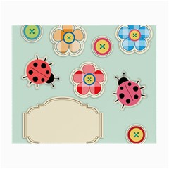 Buttons & Ladybugs Cute Small Glasses Cloth by Simbadda