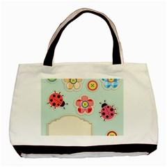 Buttons & Ladybugs Cute Basic Tote Bag by Simbadda