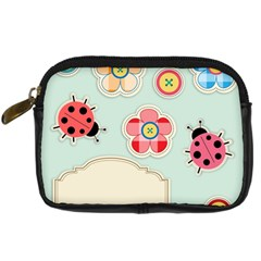 Buttons & Ladybugs Cute Digital Camera Cases by Simbadda