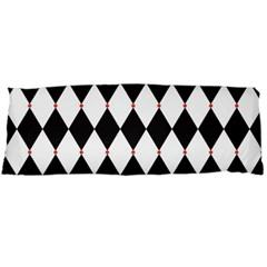Plaid Triangle Line Wave Chevron Black White Red Beauty Argyle Body Pillow Case Dakimakura (two Sides) by Alisyart