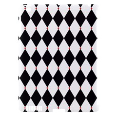 Plaid Triangle Line Wave Chevron Black White Red Beauty Argyle Apple Ipad 3/4 Hardshell Case (compatible With Smart Cover) by Alisyart