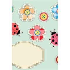 Buttons & Ladybugs Cute 5 5  X 8 5  Notebooks by Simbadda