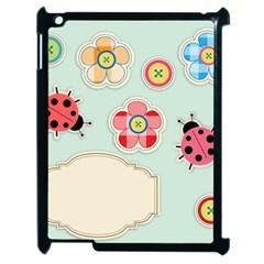 Buttons & Ladybugs Cute Apple Ipad 2 Case (black) by Simbadda
