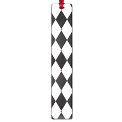 Plaid Triangle Line Wave Chevron Black White Red Beauty Argyle Large Book Marks by Alisyart