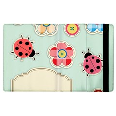 Buttons & Ladybugs Cute Apple Ipad 3/4 Flip Case by Simbadda