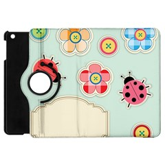 Buttons & Ladybugs Cute Apple Ipad Mini Flip 360 Case by Simbadda