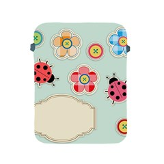 Buttons & Ladybugs Cute Apple Ipad 2/3/4 Protective Soft Cases by Simbadda