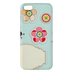 Buttons & Ladybugs Cute Iphone 5s/ Se Premium Hardshell Case by Simbadda