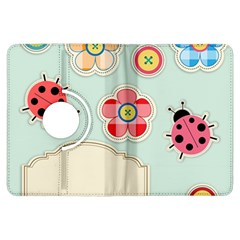 Buttons & Ladybugs Cute Kindle Fire Hdx Flip 360 Case by Simbadda