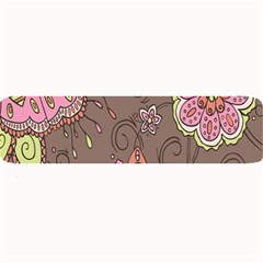 Ice Cream Flower Floral Rose Sunflower Leaf Star Brown Large Bar Mats by Alisyart