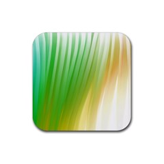 Folded Paint Texture Background Rubber Coaster (square)  by Simbadda