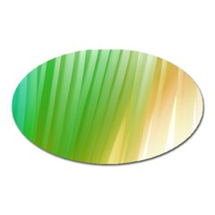 Folded Paint Texture Background Oval Magnet by Simbadda