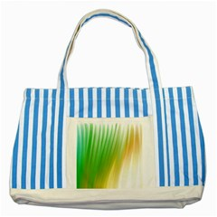 Folded Paint Texture Background Striped Blue Tote Bag by Simbadda