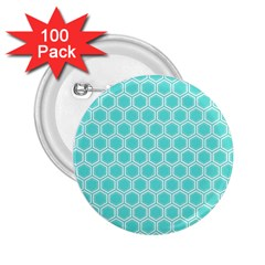 Plaid Circle Blue Wave 2 25  Buttons (100 Pack)  by Alisyart