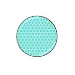 Plaid Circle Blue Wave Hat Clip Ball Marker by Alisyart