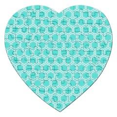 Plaid Circle Blue Wave Jigsaw Puzzle (heart) by Alisyart