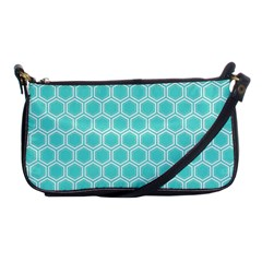 Plaid Circle Blue Wave Shoulder Clutch Bags by Alisyart