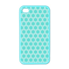 Plaid Circle Blue Wave Apple Iphone 4 Case (color) by Alisyart