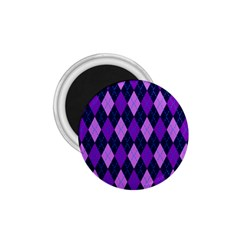 Plaid Triangle Line Wave Chevron Blue Purple Pink Beauty Argyle 1 75  Magnets by Alisyart