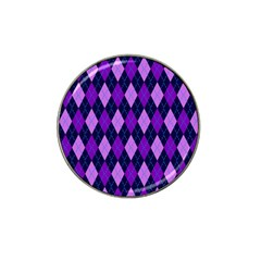 Plaid Triangle Line Wave Chevron Blue Purple Pink Beauty Argyle Hat Clip Ball Marker (10 Pack) by Alisyart
