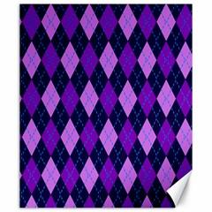 Plaid Triangle Line Wave Chevron Blue Purple Pink Beauty Argyle Canvas 20  X 24   by Alisyart