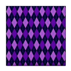 Plaid Triangle Line Wave Chevron Blue Purple Pink Beauty Argyle Face Towel by Alisyart