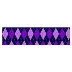 Plaid Triangle Line Wave Chevron Blue Purple Pink Beauty Argyle Satin Scarf (oblong) by Alisyart