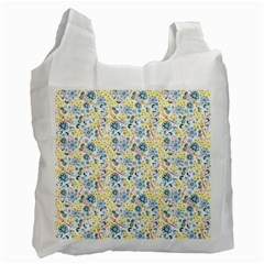 Flower Floral Bird Peacok Sunflower Star Leaf Rose Recycle Bag (two Side)  by Alisyart